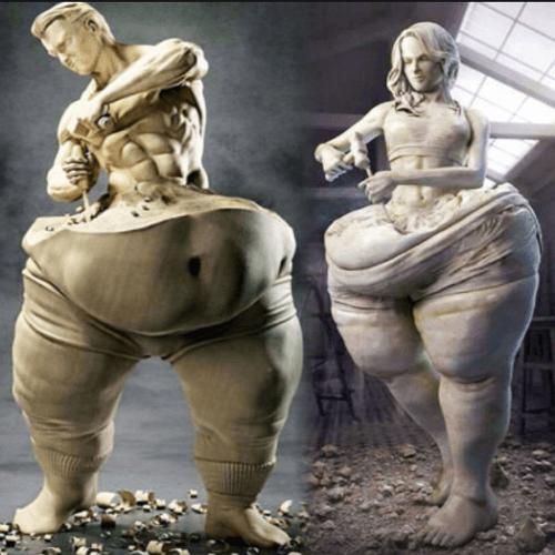 다이어트 조각상