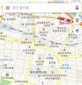 카카오맵 지도 모습
